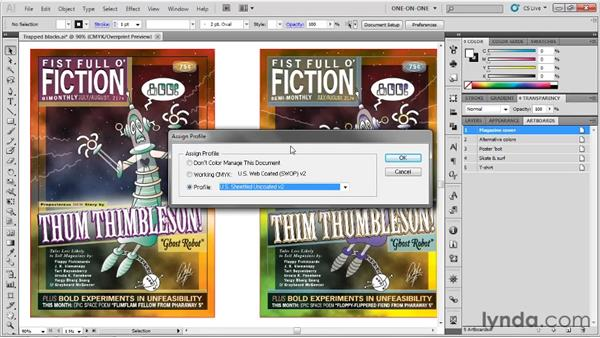 Predicting how colors will print: Illustrator CS5 One-on-One: Fundamentals