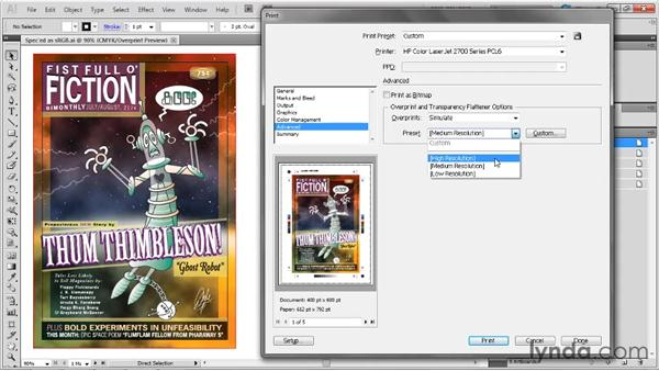 Overprint and Transparency Flattener: Illustrator CS5 One-on-One: Fundamentals