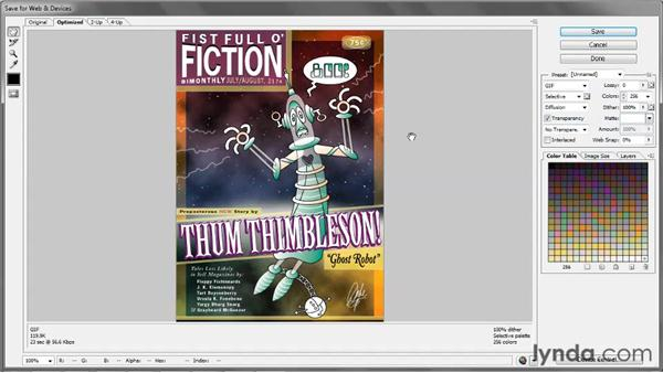Saving an illustration for the web: Illustrator CS5 One-on-One: Fundamentals