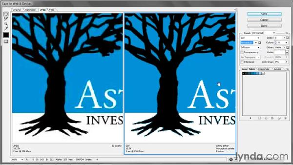Saving a high-contrast GIF: Illustrator CS5 One-on-One: Fundamentals