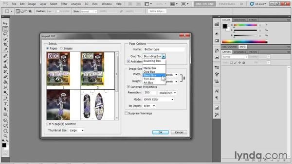 Rasterizing AI files in Photoshop: Illustrator CS5 One-on-One: Fundamentals