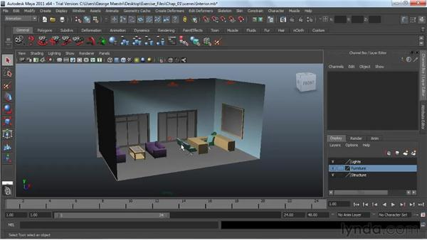 Navigating viewports : Maya 2011 Essential Training