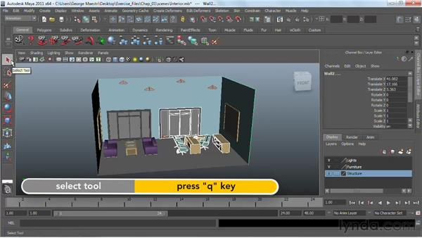 Selecting objects : Maya 2011 Essential Training