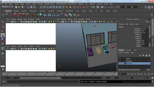 Using the Move tool : Maya 2011 Essential Training