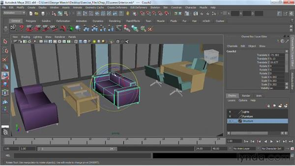 Rotating and scaling : Maya 2011 Essential Training