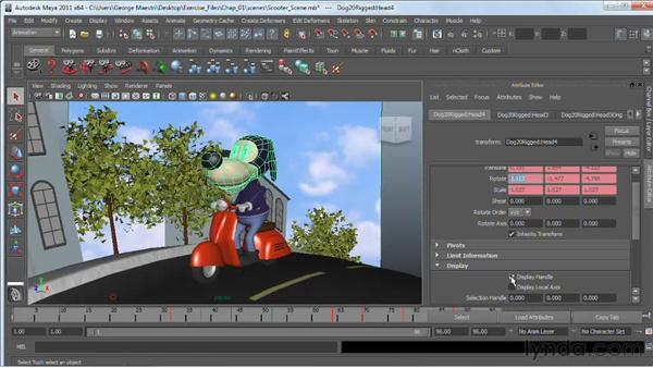 Working with the Attribute Editor : Maya 2011 Essential Training