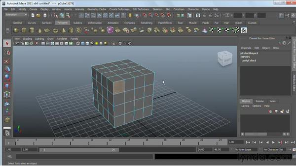 Working with polygonal components: Maya 2011 Essential Training