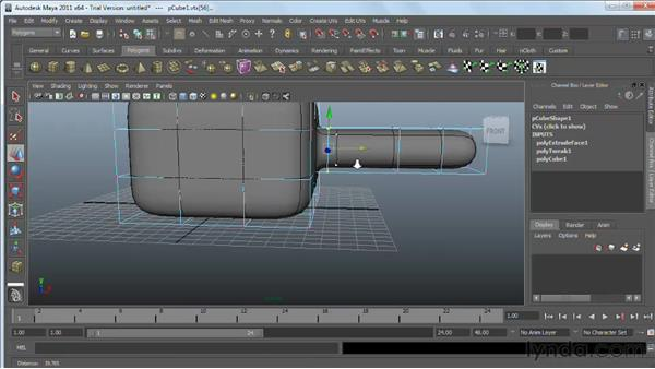 Smooth and subdivision surfaces: Maya 2011 Essential Training