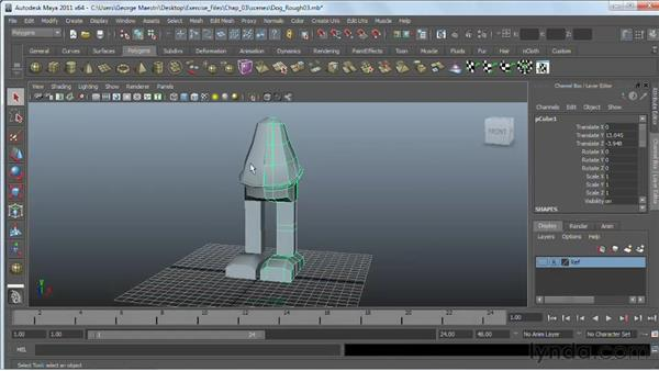 Combining objects : Maya 2011 Essential Training
