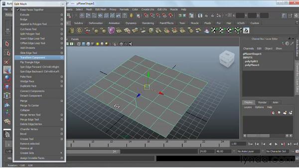 Connecting components  and splitting polygons : Maya 2011 Essential Training