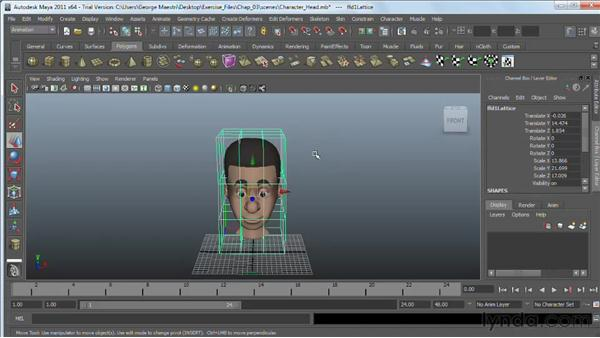 Modeling with lattices : Maya 2011 Essential Training