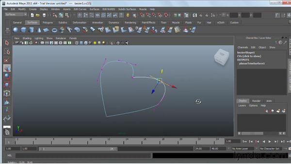 Using NURBS Planar: Maya 2011 Essential Training