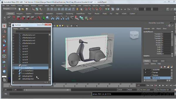 Grouping objects : Maya 2011 Essential Training