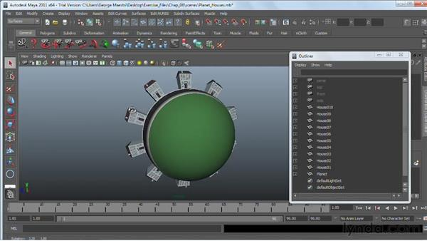 Hiding and showing objects : Maya 2011 Essential Training