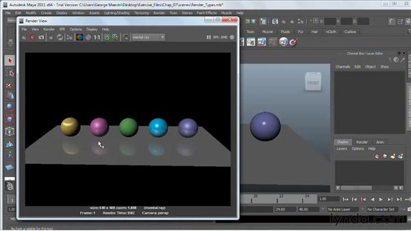 Overview of renderers : Maya 2011 Essential Training
