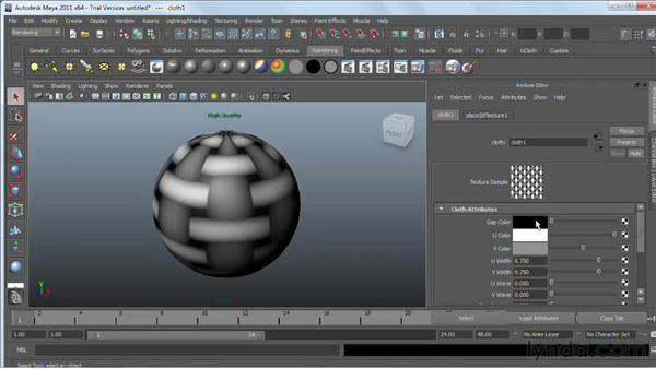 Creating and applying maps : Maya 2011 Essential Training