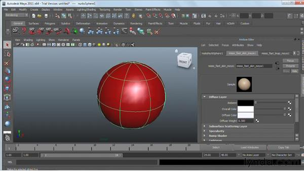 Working with mental ray materials: Maya 2011 Essential Training