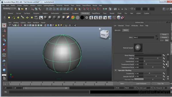 Using displacement and bump mapping : Maya 2011 Essential Training