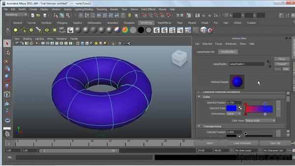 Using the Ramp Shader : Maya 2011 Essential Training