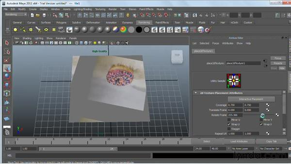 Texture-mapping NURBS surfaces : Maya 2011 Essential Training