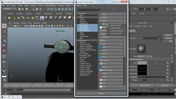 Projecting textures onto surfaces: Maya 2011 Essential Training