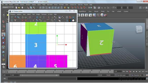 Using the UVW Editor: Maya 2011 Essential Training