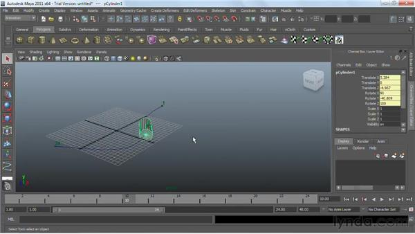 Animating objects along paths : Maya 2011 Essential Training
