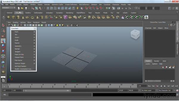 Animating with constraints : Maya 2011 Essential Training