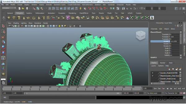 Creating animation cycles : Maya 2011 Essential Training