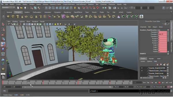 Finishing the animation: Maya 2011 Essential Training