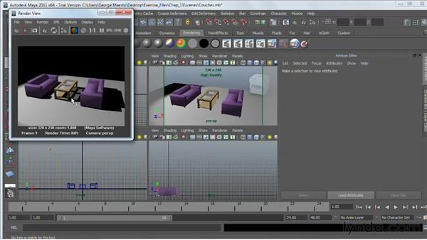 Using Raytrace shadows : Maya 2011 Essential Training