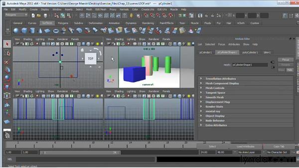 Adding depth of field : Maya 2011 Essential Training