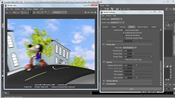 maya how to turn on motion blur mental ray
