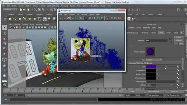 Interactive rendering with IPR : Maya 2011 Essential Training