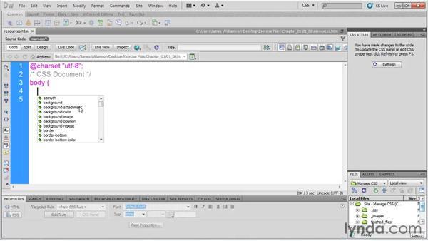 : Managing CSS in Dreamweaver