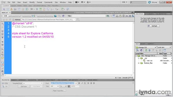 Writing a style header: Managing CSS in Dreamweaver