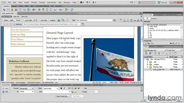 Creating a style guide: Managing CSS in Dreamweaver