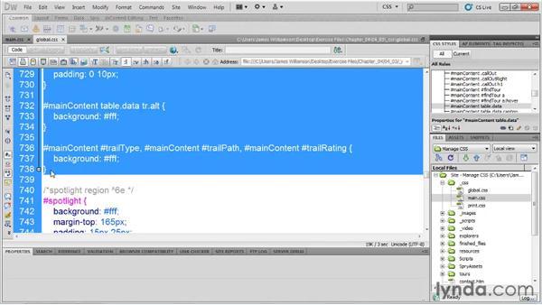 Preparing modular styles: Managing CSS in Dreamweaver