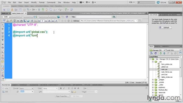 Creating modular style sheets: Managing CSS in Dreamweaver