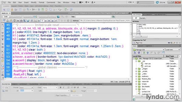 Optimizing CSS with Dreamweaver: Managing CSS in Dreamweaver