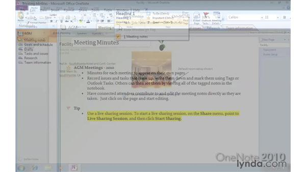 Comparing OneNote 2007 and OneNote 2010: OneNote 2010 New Features