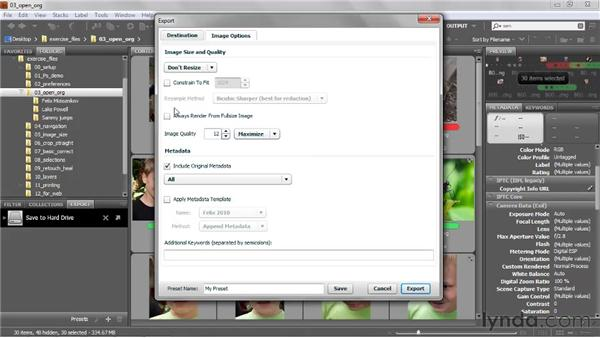 Batch-exporting JPEG files: Photoshop CS5 One-on-One: Fundamentals