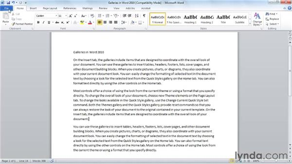 Saving a Word document for yourself or others: Word 2010 Essential Training