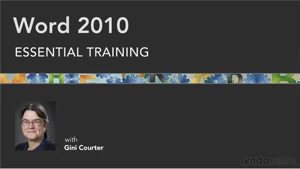 : Word 2010 Essential Training