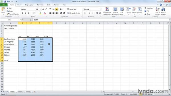 Adding a whole worksheet: Excel 2010 Essential Training