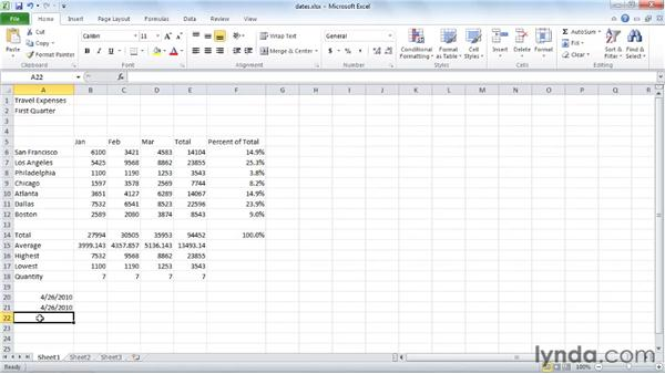 : Excel 2010 Essential Training