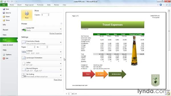 Printing and PDFs: Excel 2010 Essential Training