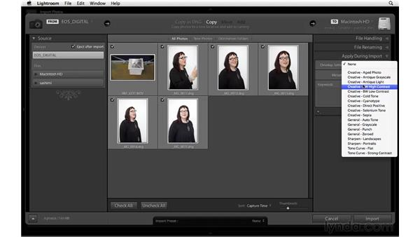 Importing photos and movies from a CF card: Lightroom 3 New Features