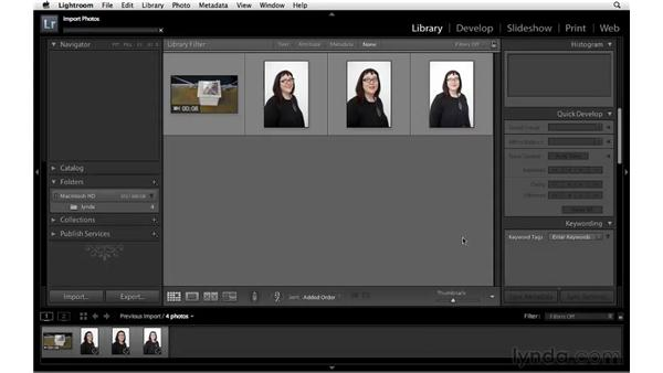 Adding and importing photos from a folder: Lightroom 3 New Features