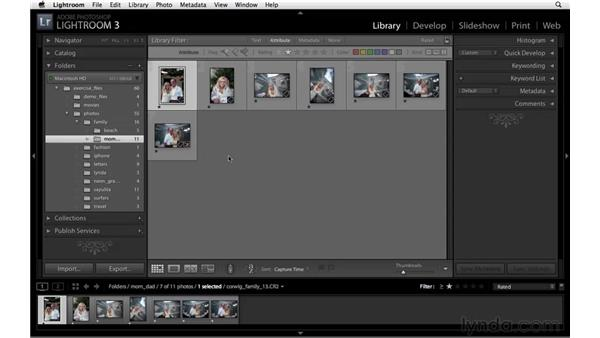 Filtering photos: Lightroom 3 New Features